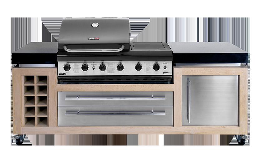 Luxe Design Buitenkeuken Barbecue Blank Eikenhout Luxius